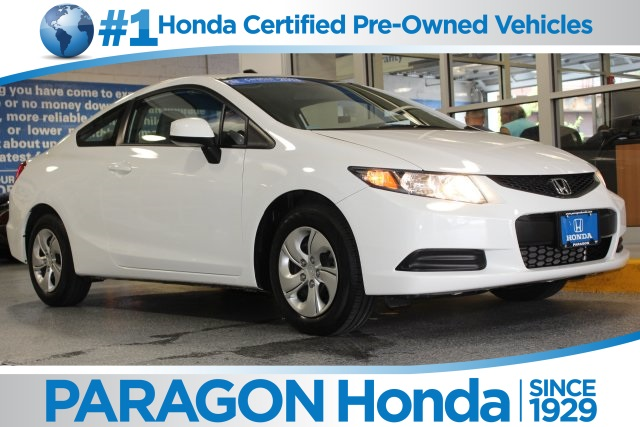 Certified pre owned 2013 honda civic lx 2d coupe in for Certified used honda civic